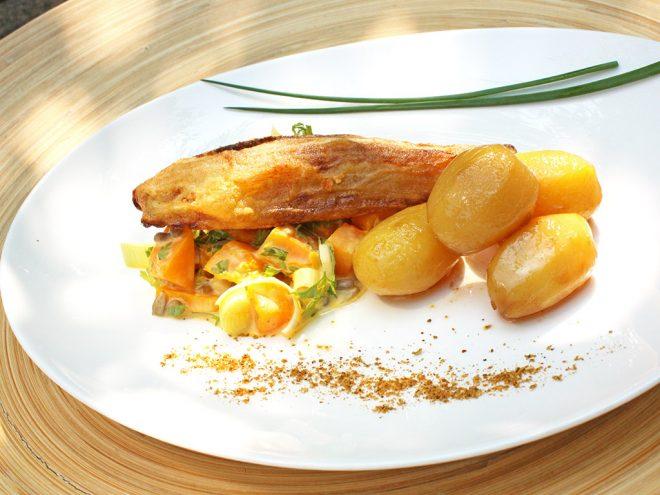 Ayurveda Rezept: Gebratener Chioree auf cremigem Hokkaido-Gemüse an Karamellkartoffeln | Ayurveda Parkschlösschen Health Blog
