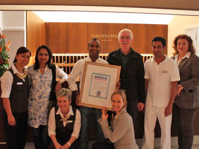Das Ayurveda Parkschlösschen gewinnt den Senses Award 2013 | Ayurveda Parkschlösschen Health Blog