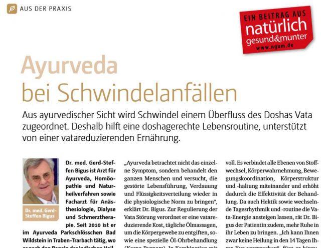 Ayurveda bei Schwindel | Ayurveda Parkschlösschen Health Blog