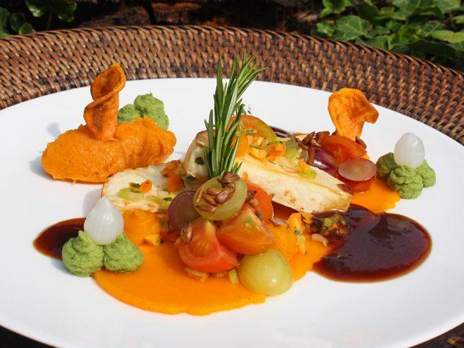 Ayurveda Rezept: Sellerie auf Trauben-Kirschtomaten-Salat an Süßkartoffelpüree | Ayurveda Parkschlösschen Health Blog
