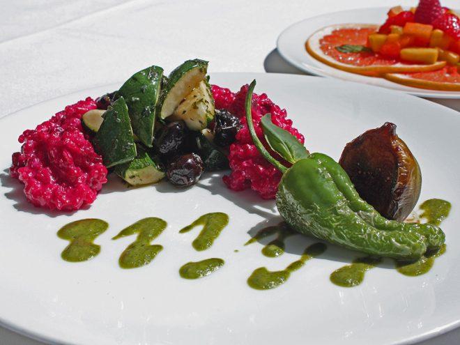 Ayurveda Rezept: Rote Bete Risotto an Zuchhini-Olivengemüse und Basilikum-Pest | Ayurveda Parkschlösschen Health Blog