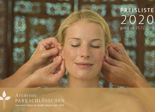 Programme und Preise 2020 | Ayurveda Parkschlösschen | Ayurveda Detox & Health Resort seit 1993