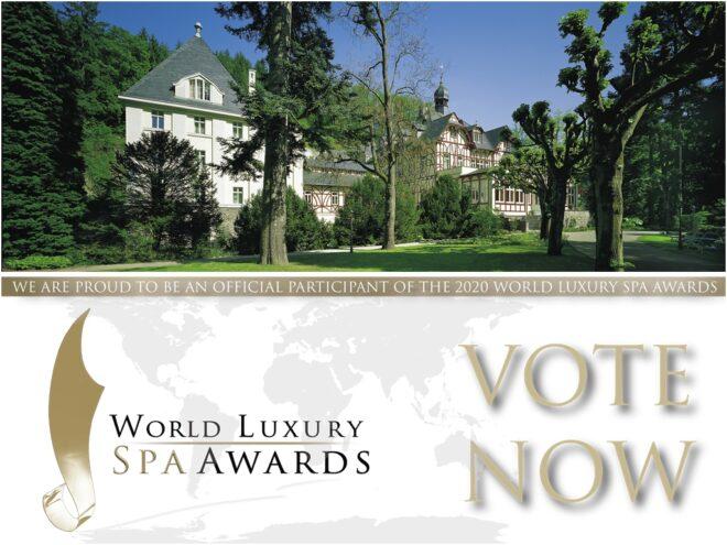 World Luxury Spa Awards 2020: Das Ayurveda Parkschlösschen ist nominiert in den Kategorien Luxury Ayurveda Spa und Best Detox Program! Voten Sie jetzt für uns!