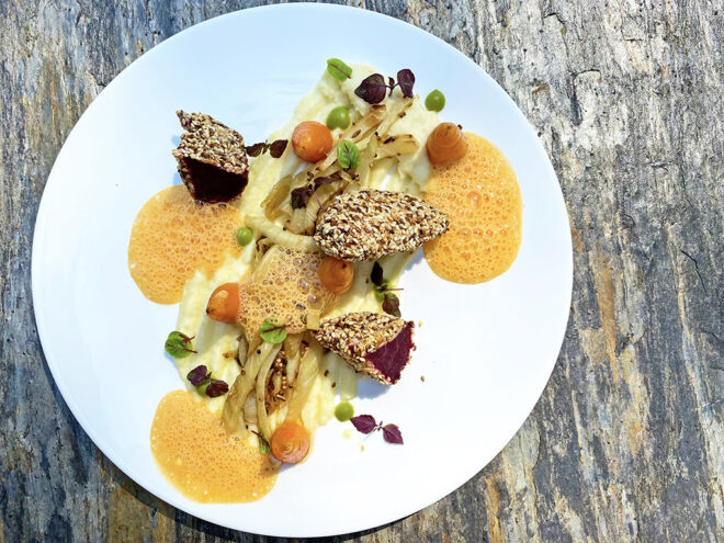 Rote-Bete-Schnitzel mit Fenchel-Karottengemüse und Petersilienwurzelpüree | Ayurveda Rezept im Ayurveda Parkschlösschen Health Blog